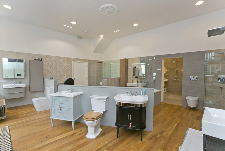 spacious bathroom showroom in Pimlico, London