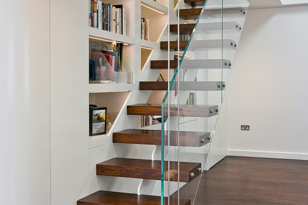 floating stairs in loft apartmnet in South Kensington, London