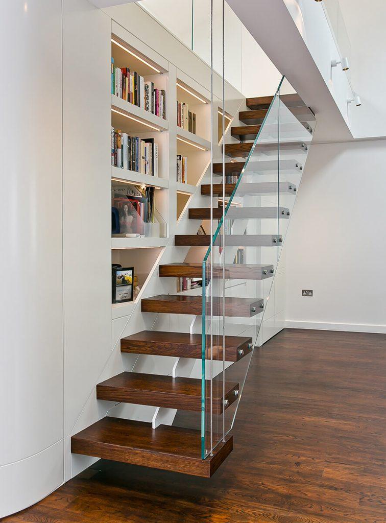 floating stairs in loft apartmnet in South Kensington, London