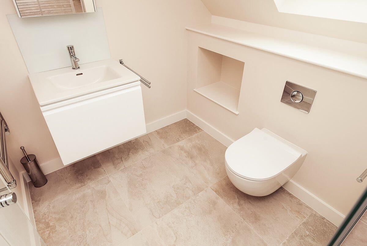 light, small bathroom, Wandsworth, London