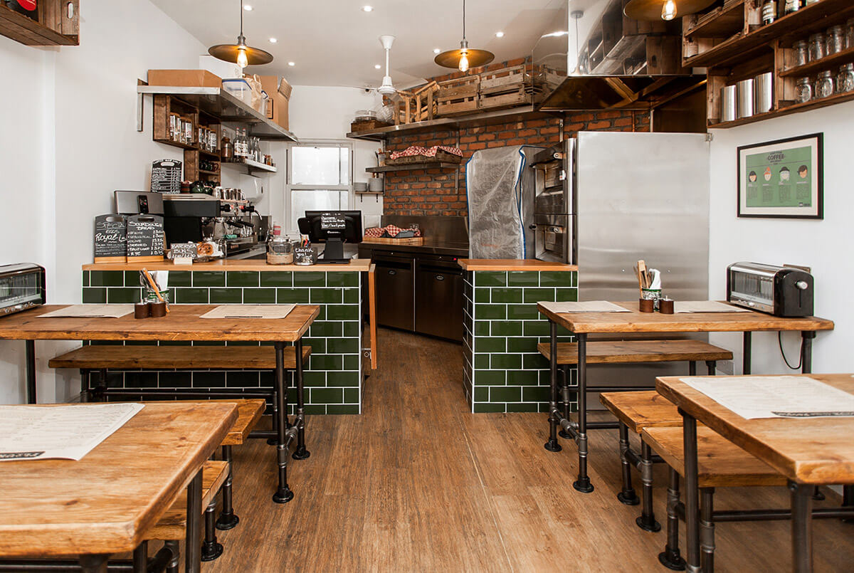 Urban Industrial Interior of Bakery-Cafe in Battersea London
