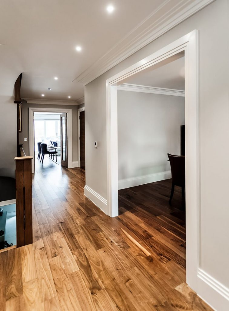 spacious and light hall way in Battersea, London