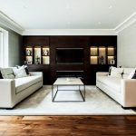 Spacious bright and light elegant reception room in Battersea, London