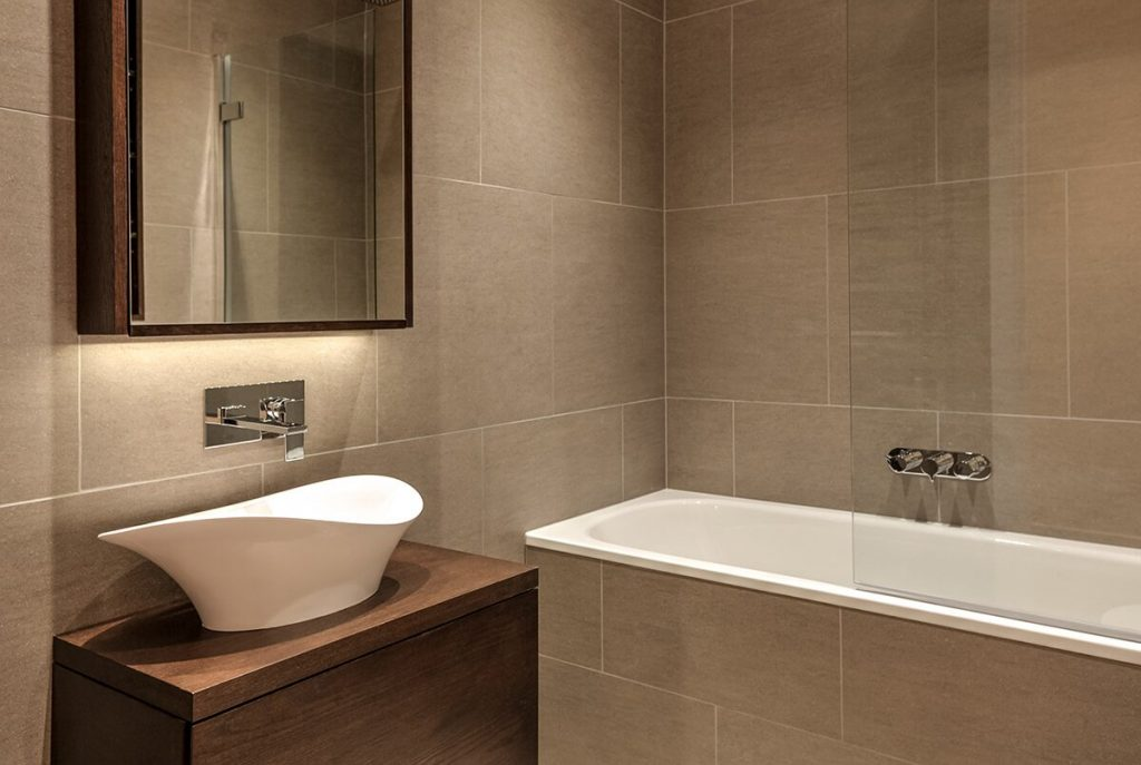 residential interior design for small but styling bathroom in South Kensington, London