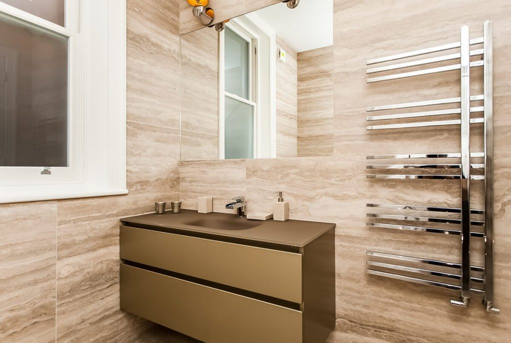 interior design for a luxury bathroom , Kensington, London
