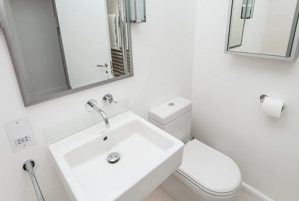 white bathroom with beautiful sanitaryware, Chelsea, London
