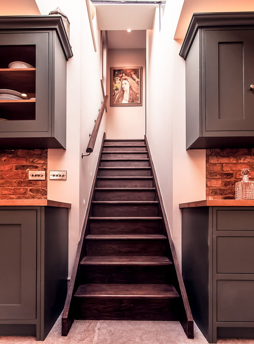 residential interior design for spacious kitchen in Victorian style, Shepherds Bush, London