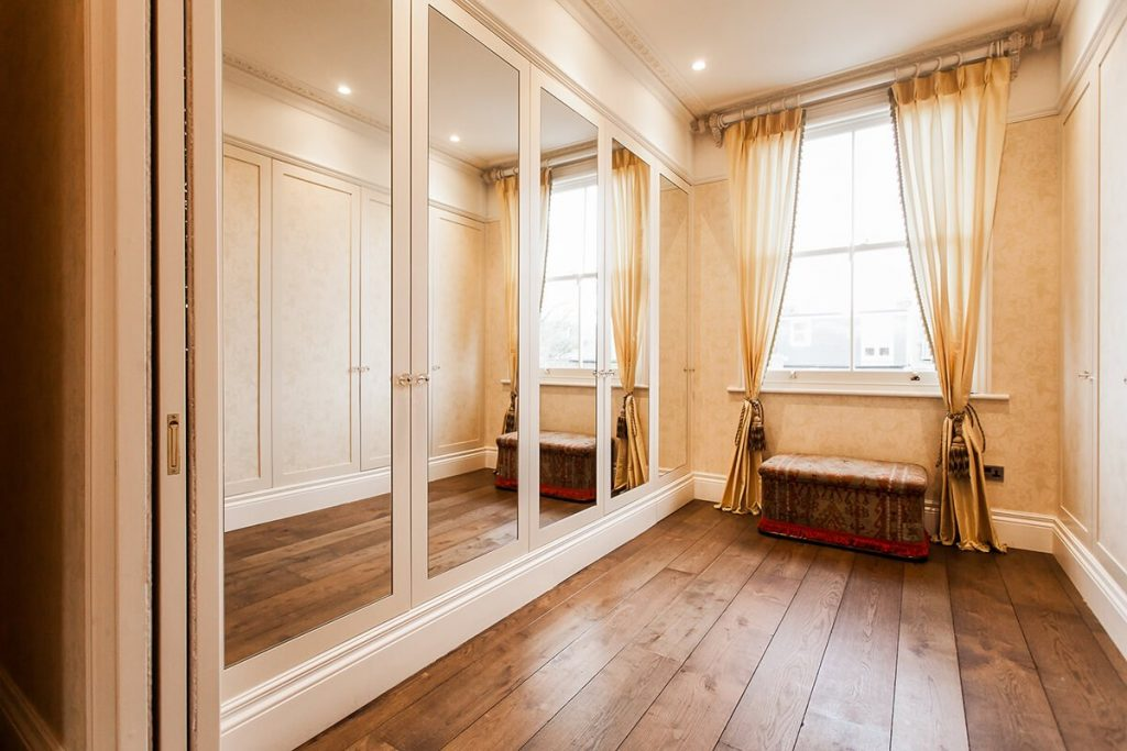 residential interior design for a bedroom in Victorian style, Shepherds bush, London