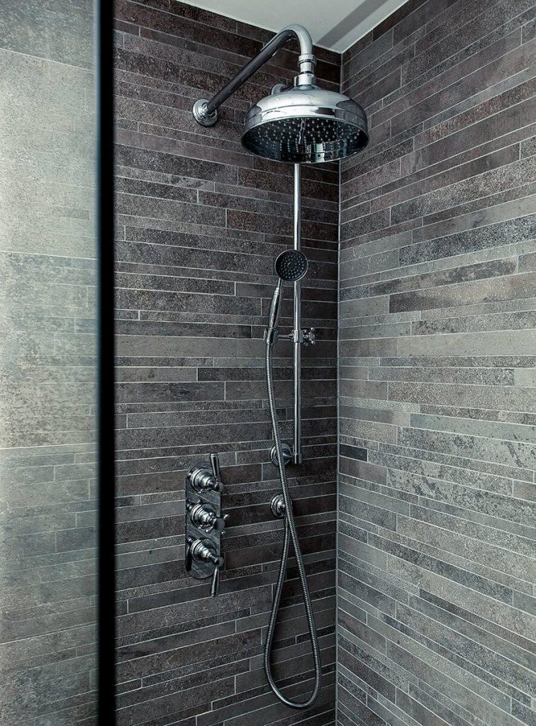 interior design for a bathroom with shower, Mayfair, London