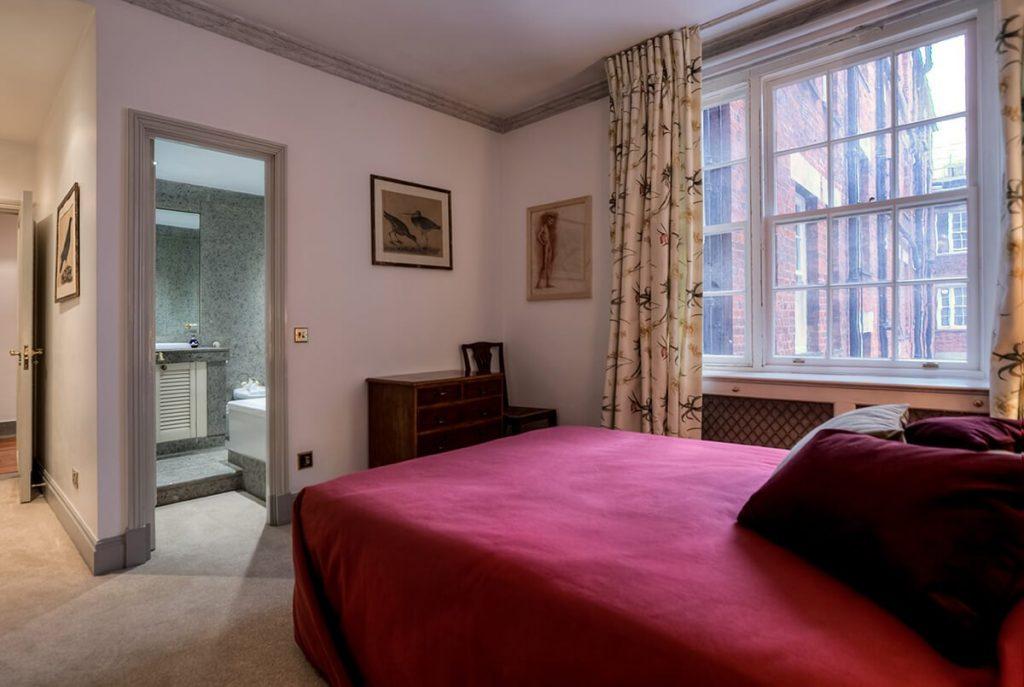 residential interiro design for a bedroom, Mayfair, Lodon