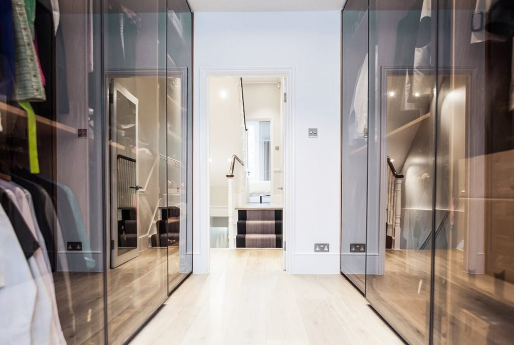 classy yet contemporary wardrobe in Chelsea, London