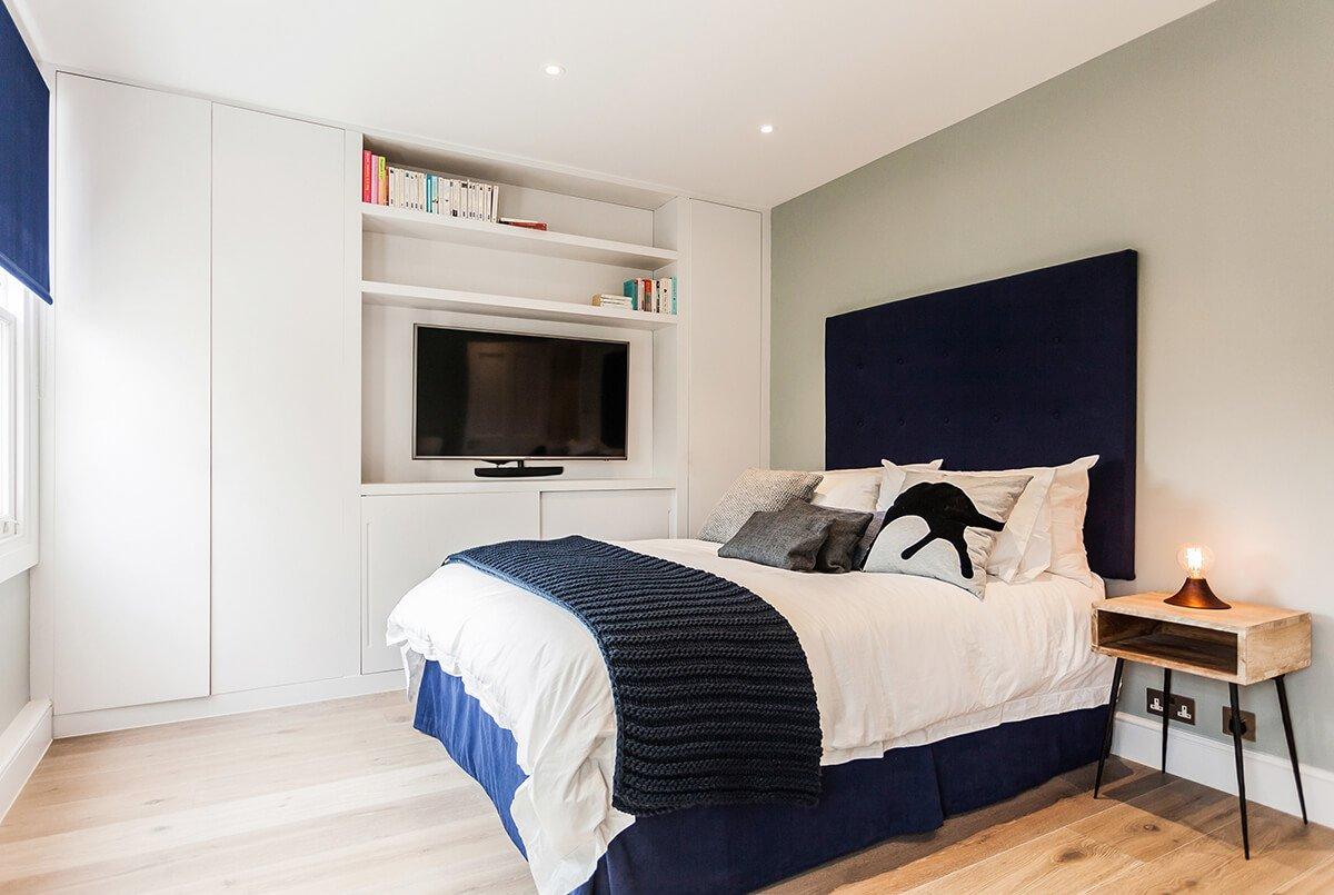 fully renovation master bedromm in modern style in Chelsea, lodnon