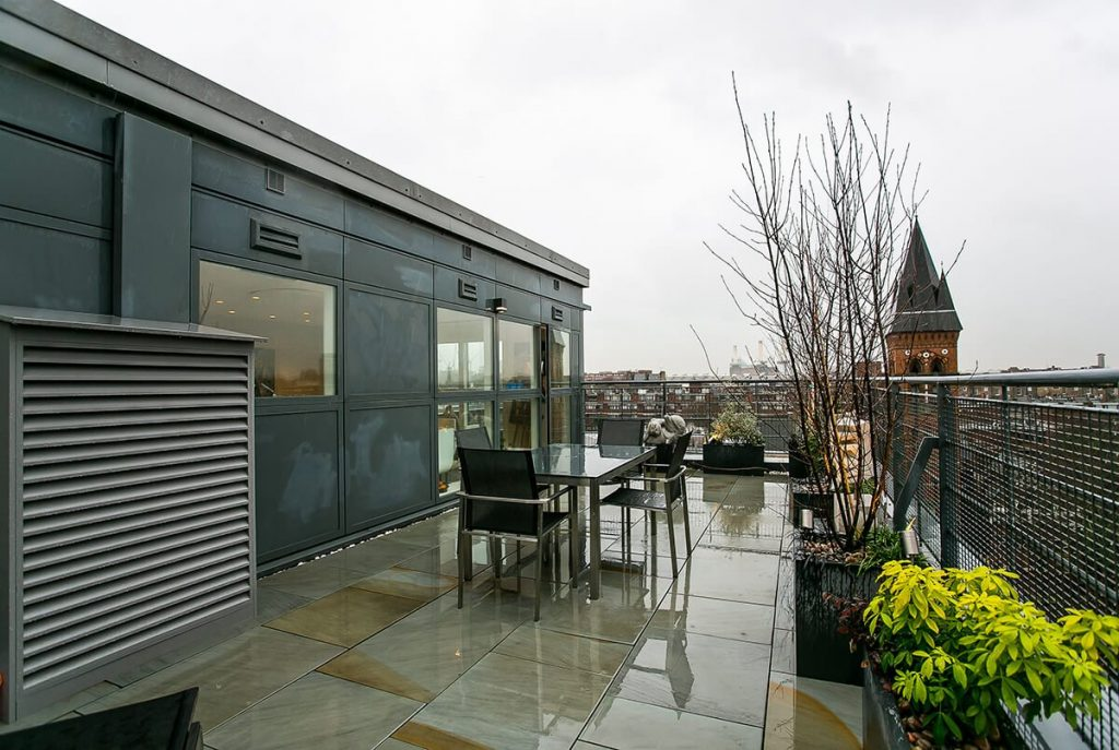 generous terrace in penthouse in Westminster, London