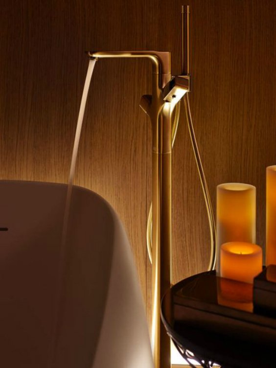 brassware finish for bathroom faucet designed by AXOR