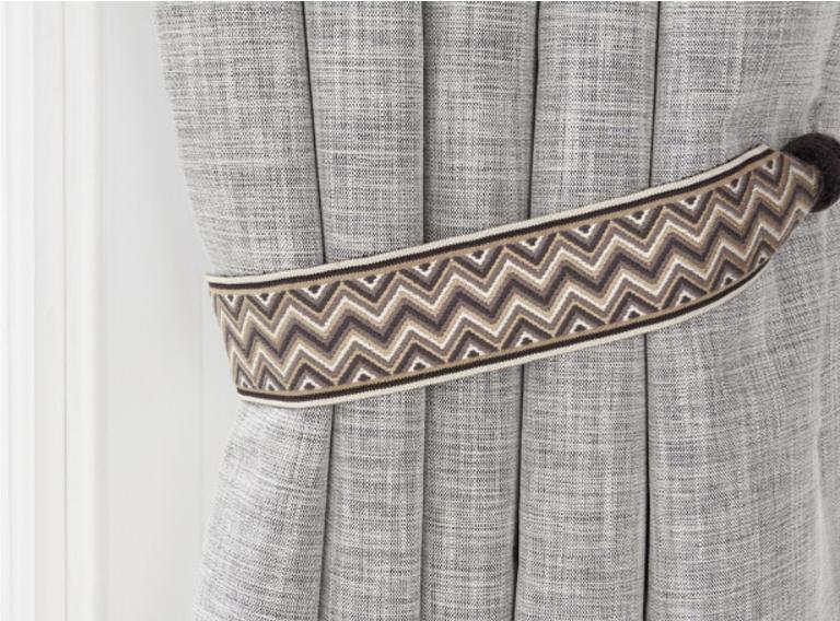 Marcel Tie back Charcoal @romo_fabrics