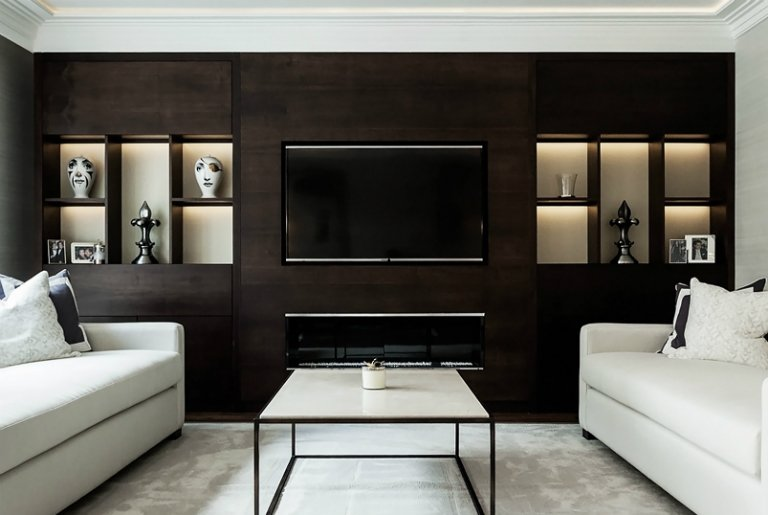 Bespoke joinery unit at Warriner Gardens Project, London