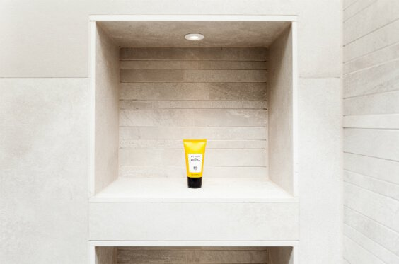 Sleek niches inside the shower area of our Uverdale Road project