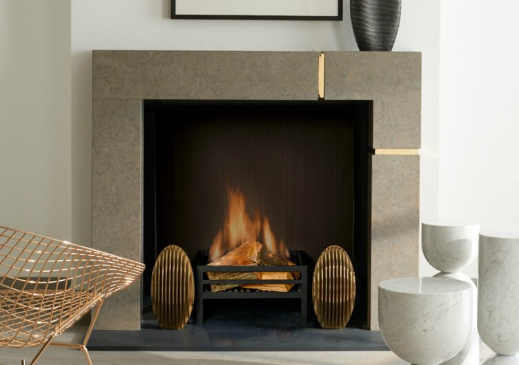 interior design with SHOW-STOPPING FIREPLACE