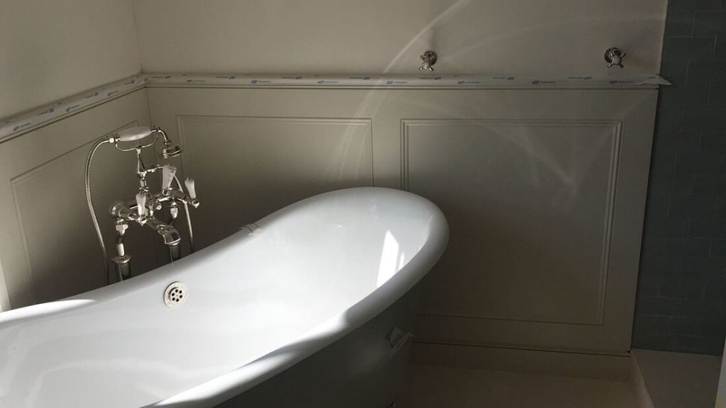 full renovation of bathroom in traditional style in St. John's Wood, London