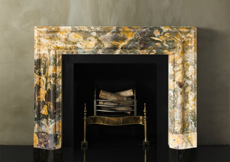 interior design with SHOW-STOPPING marble FIREPLACE