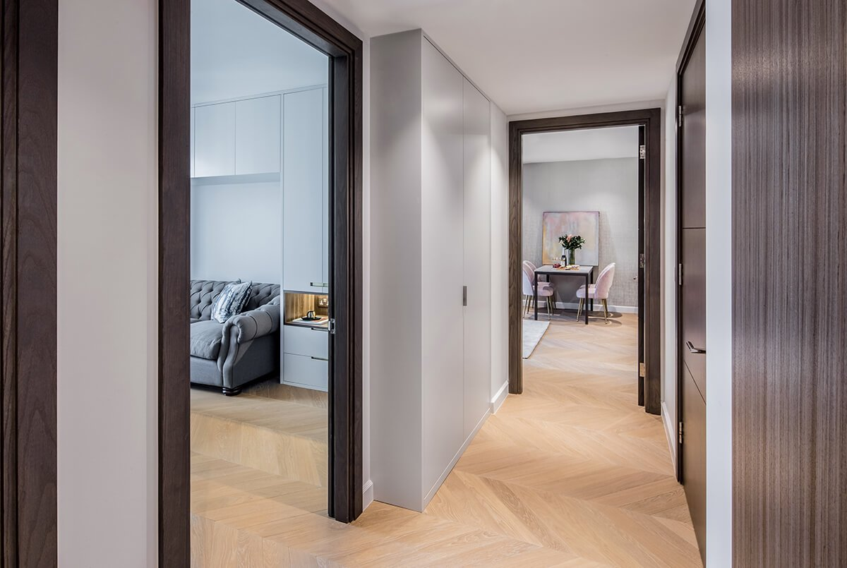 residential interior design in westminster, London - hallway