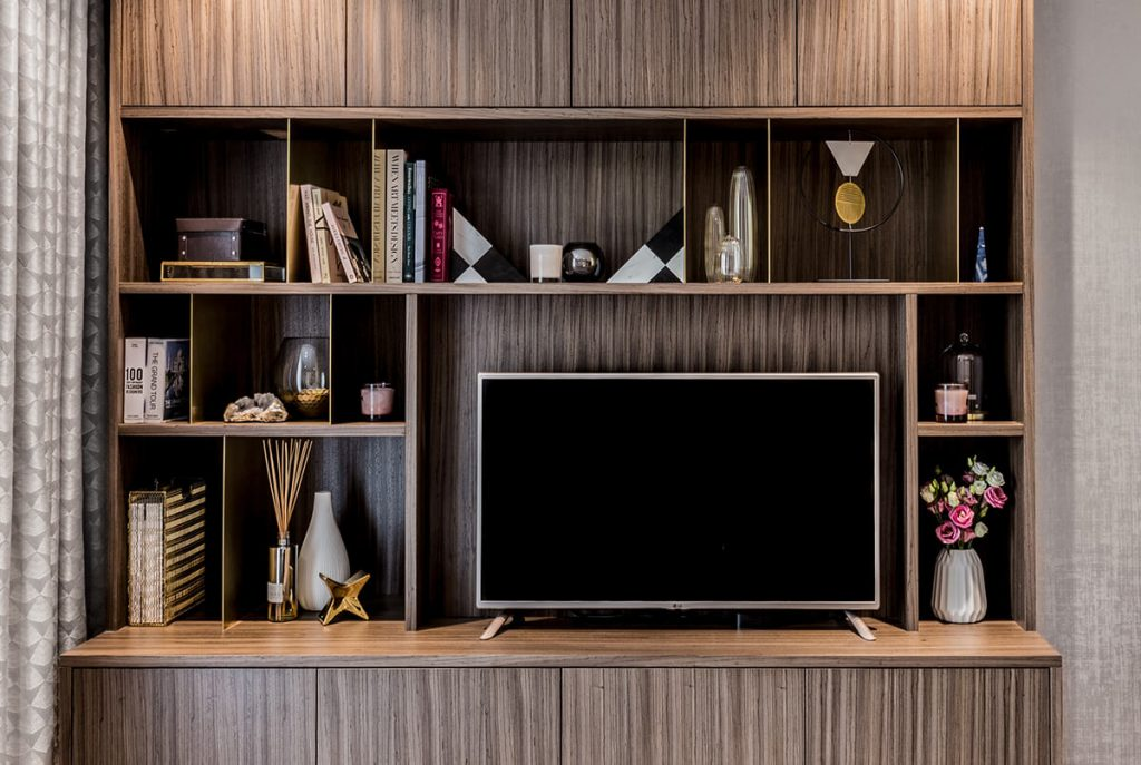 luxury yet elegant interior design for a living room with high-end furniture and accessories in Westminster, London