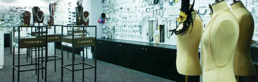 Spacious open plan office space and fashion design studio exhibiting Jewellery and accessories in Central London