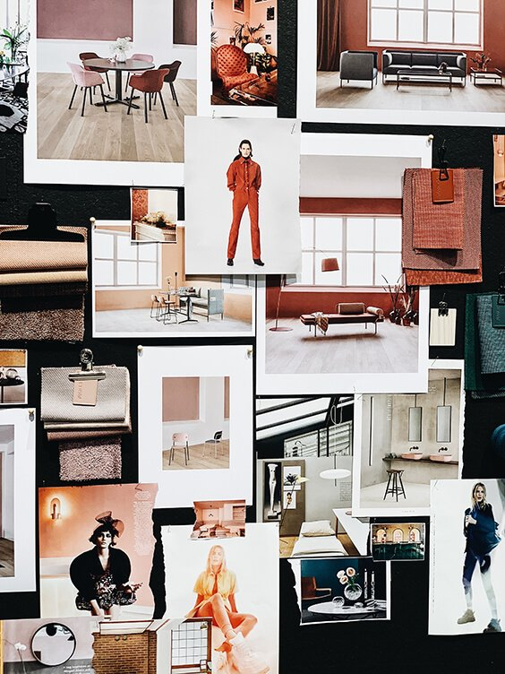 Red Mood Board Spotted by TEMZA design and build studio in Stockholm