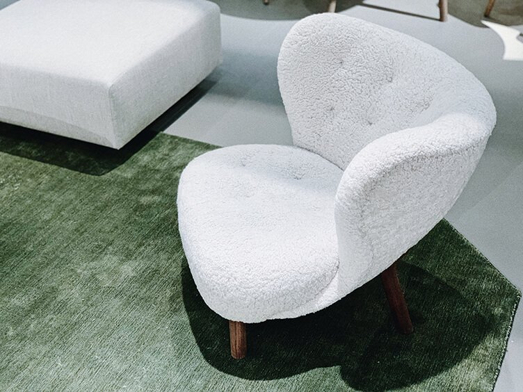 comfy white armchair designed by &Tradition spotted by Temza design and build studio in Stockholm