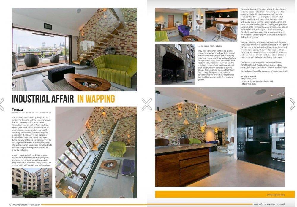 Temza interior design company: full renovation of a warehouse conversion