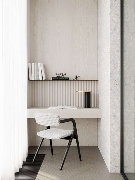 Small and stylish workspace desk