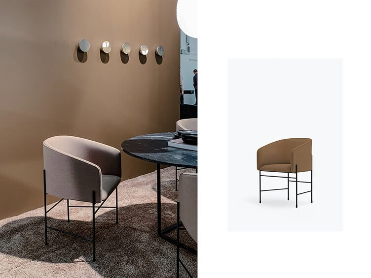 A very contemporary, truly modern form, yet classic COVENT chair by New Works Furniture