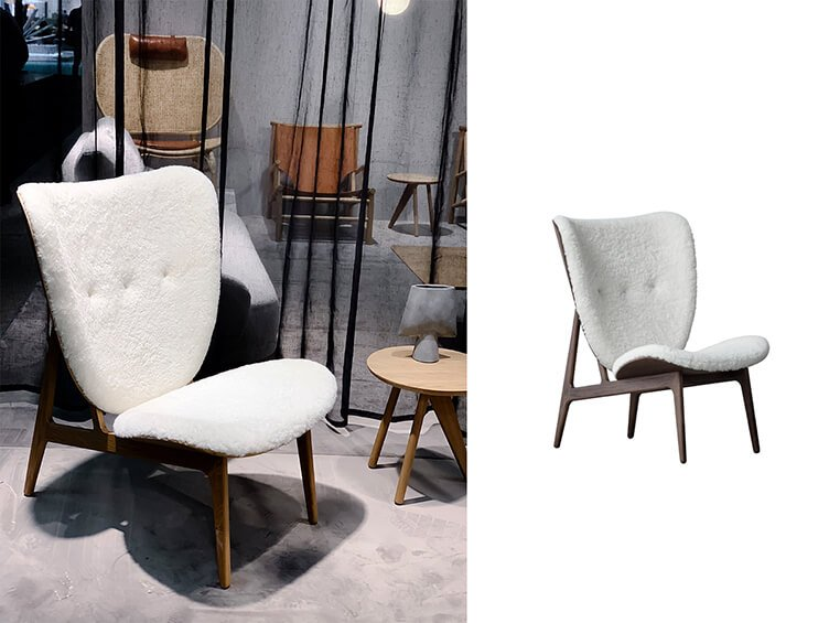 Elegant plush scndinavian Elephant Chair by Norr11