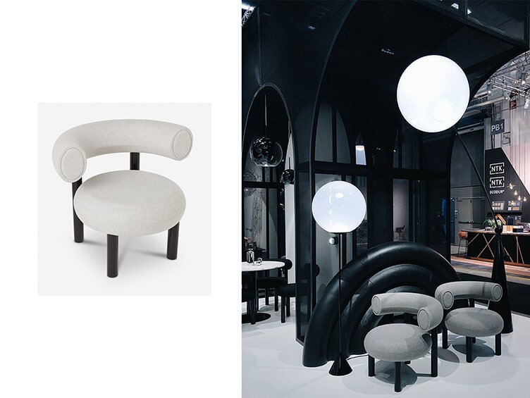 Super comfortable white Fat Chair by Tom Dixon