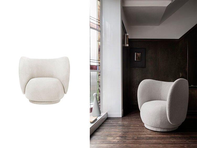 Modern elegant Rico sofa by Ferm Living