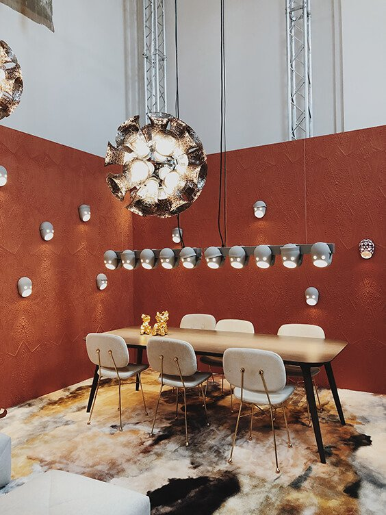 Moooi interior design installation in Milan 2019