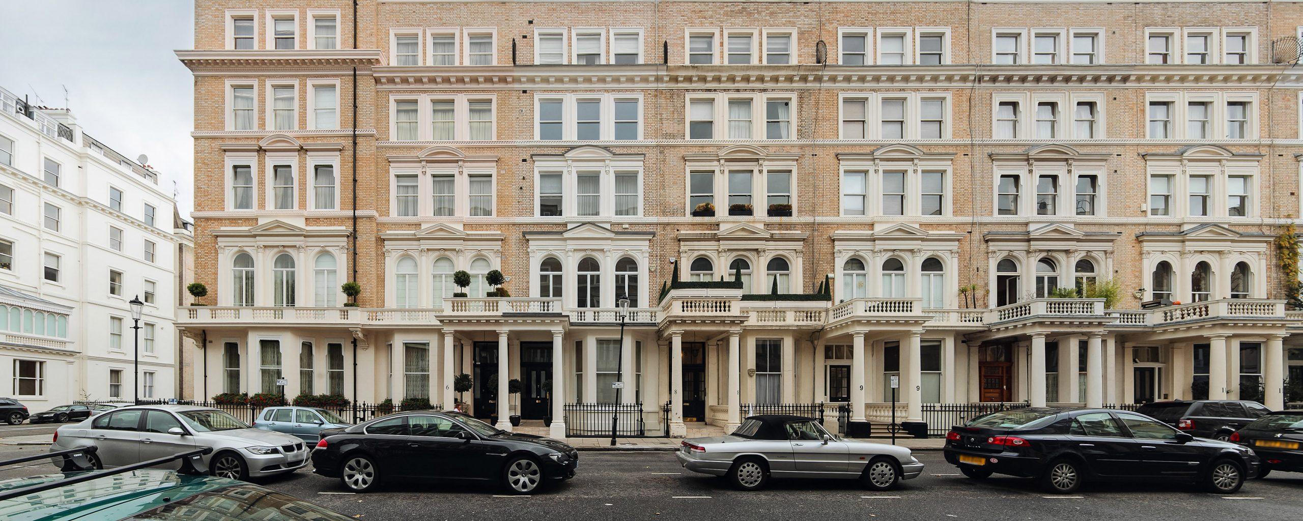 london street in South Kensington, London