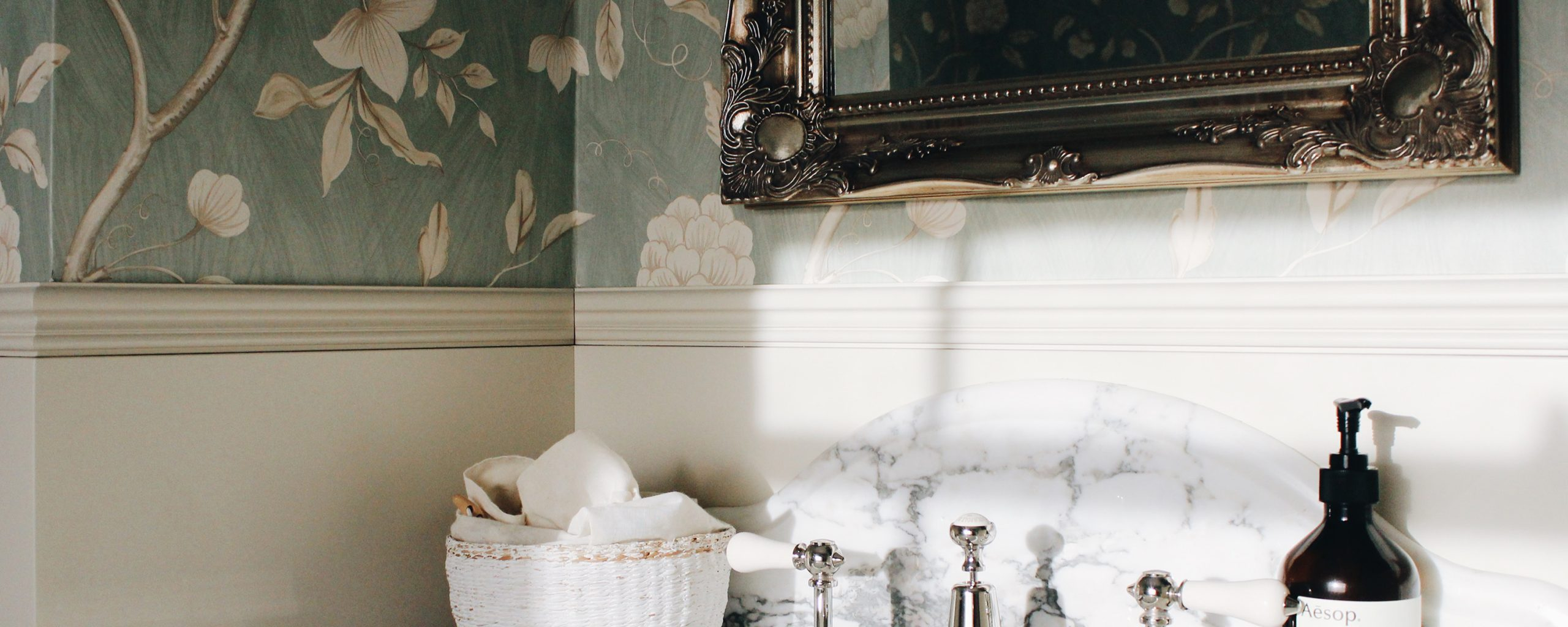 Temza London on how to use wallpaper to add a little extra romance to your bathroom
