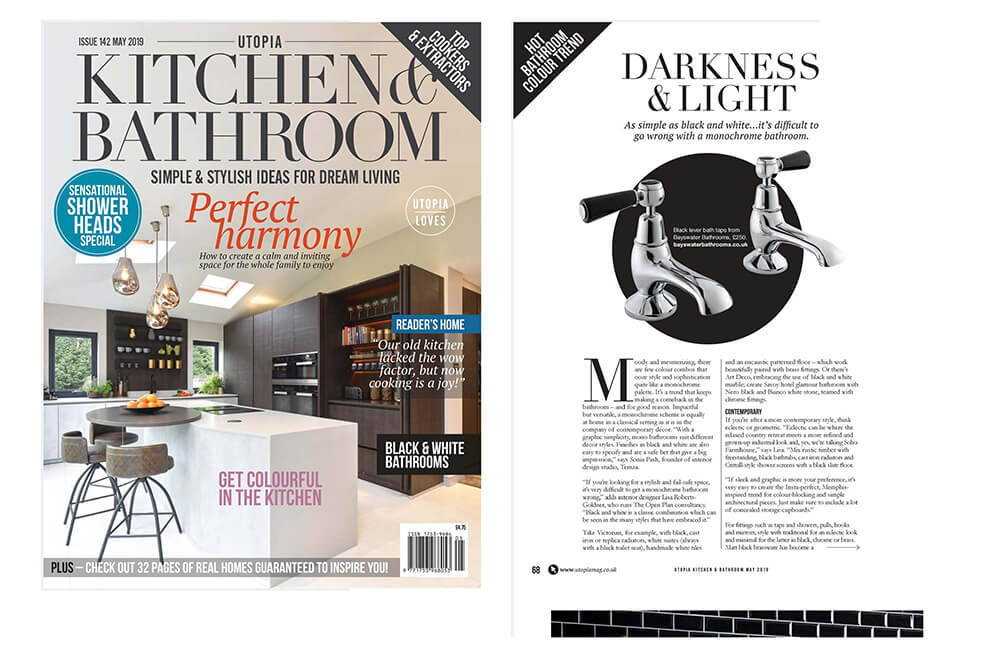 Sonia Pash, co-founder of Temza design and build comments on creating big impact using black and white for your bathroom.