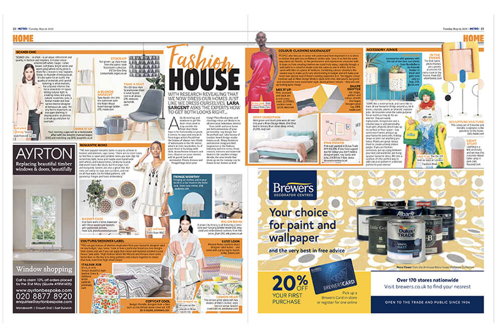 Sonia pash and Julia Janosa give expert advice on matching your interior to your fashion style