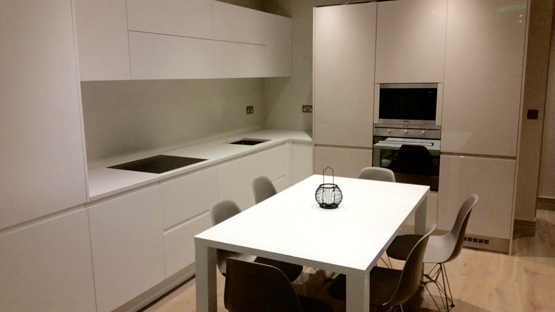 White kitchen in shepherds bush before renovation