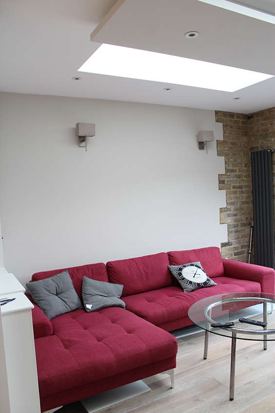 Living room in Shepherds Bush, London before renovation