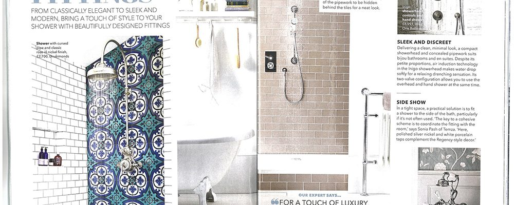 Sonia Pash, co-founder of Temza London explains how to bring style to your bathroom interior.