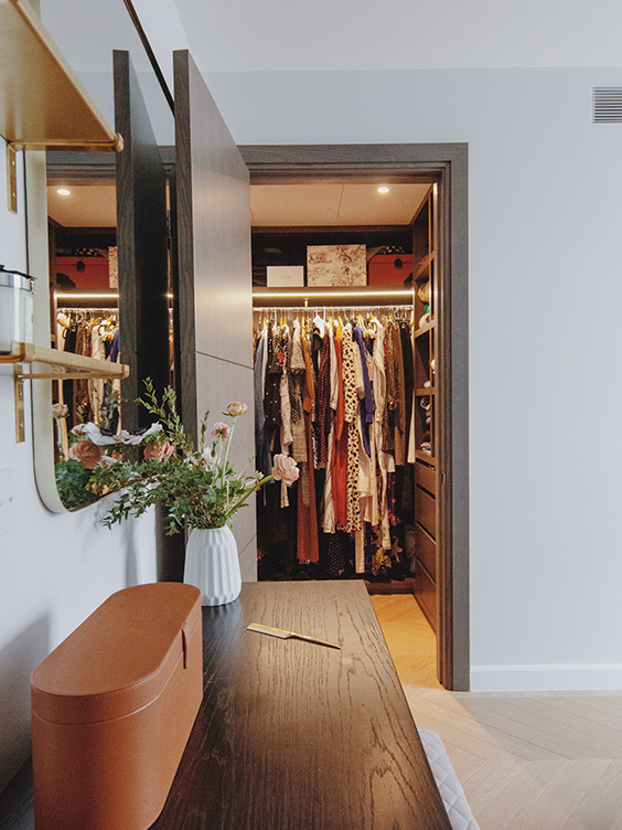residential interior design for a dressing room in westminster, London