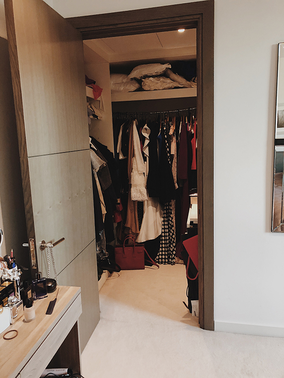 dressing room in westminster, London - before