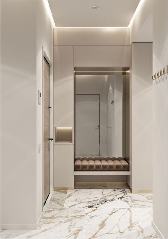 interior design for light and spacious hallway