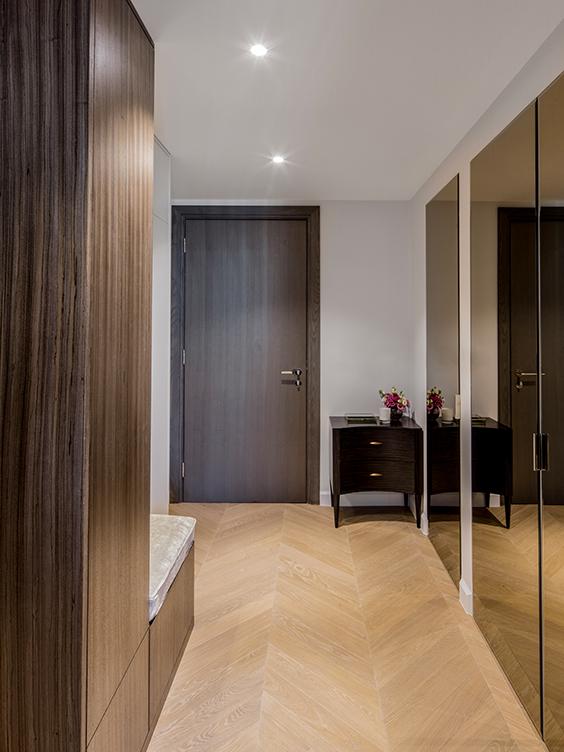 residential interior design in westminster, London- hallway