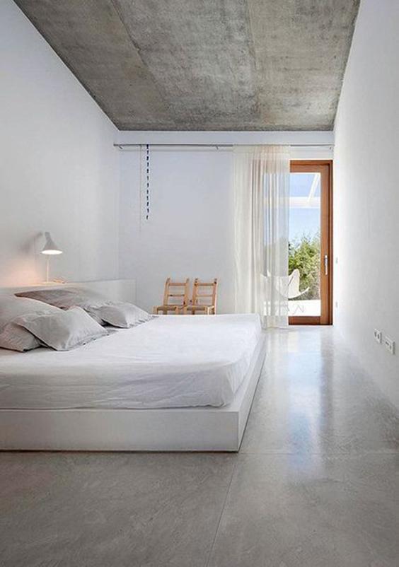 interior design renovation-polished flooring - bedroom