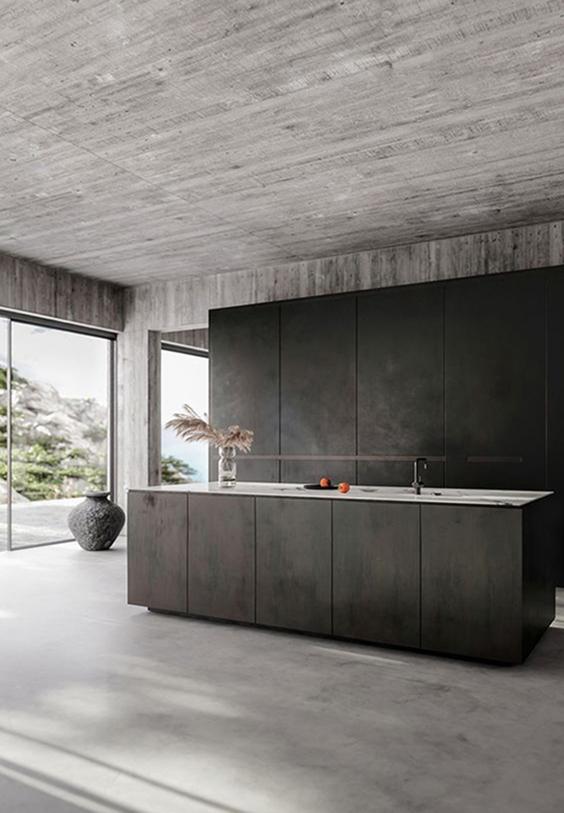 interior design renovation-polished flooring in the kitchen