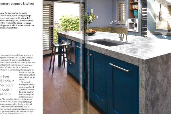 Temza design and build explains how to find the perfect balance between the traditional country style and the contemporary innovative kitchen design.